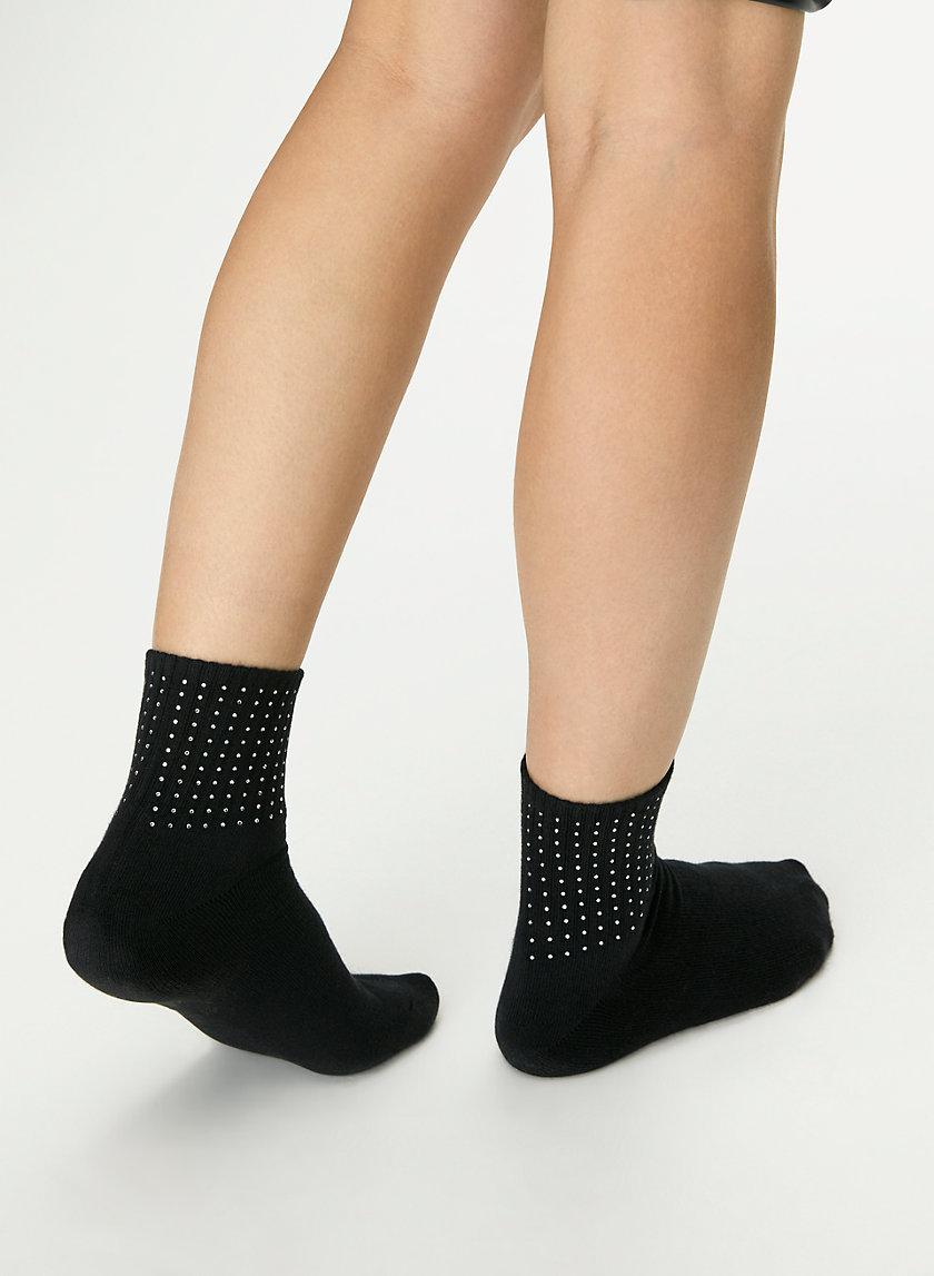 HIGH ANKLE SOCK 2 PACK - Rhinestone ankle sock
