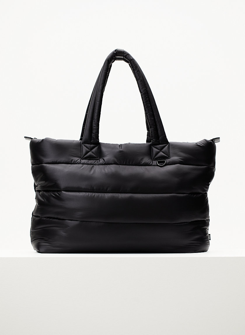 THE SUPER PUFF TOTE - Quilted, zip-up tote