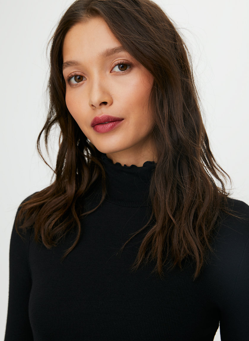 CARCO LONGSLEEVE - Ruffled turtleneck shirt