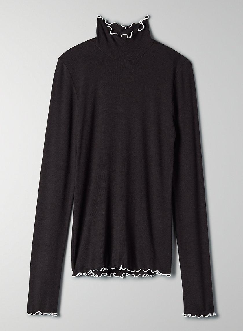 CARCO LONGSLEEVE - Ruffled turtleneck shirt