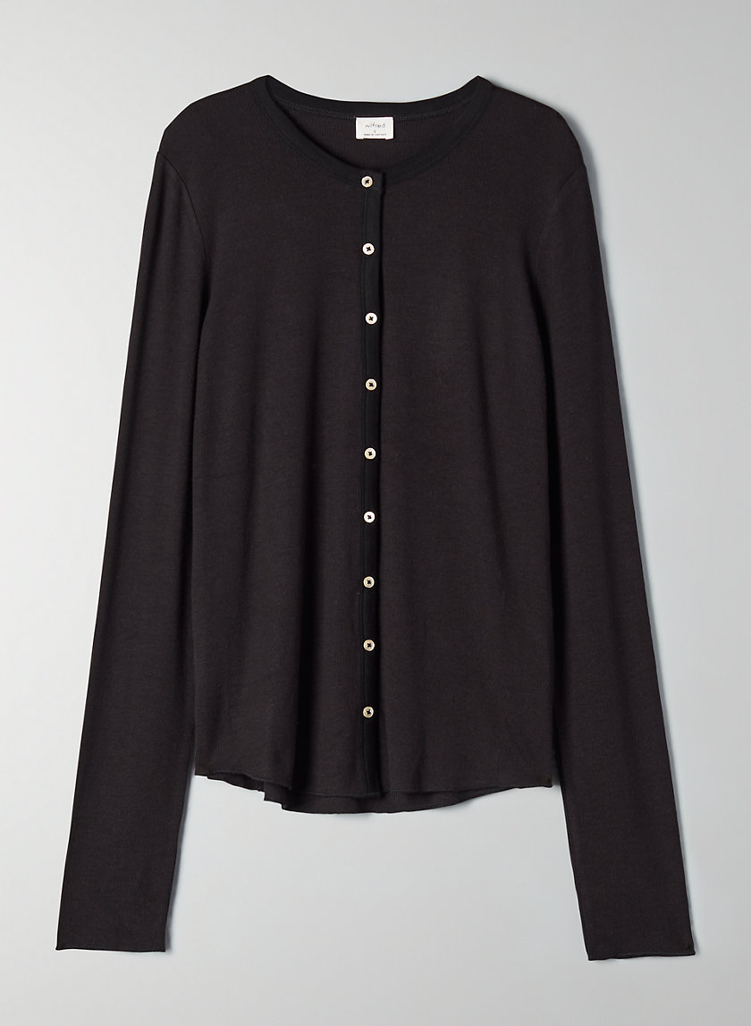 OCEANE LONGSLEEVE - Long-sleeve, ribbed shirt with buttons