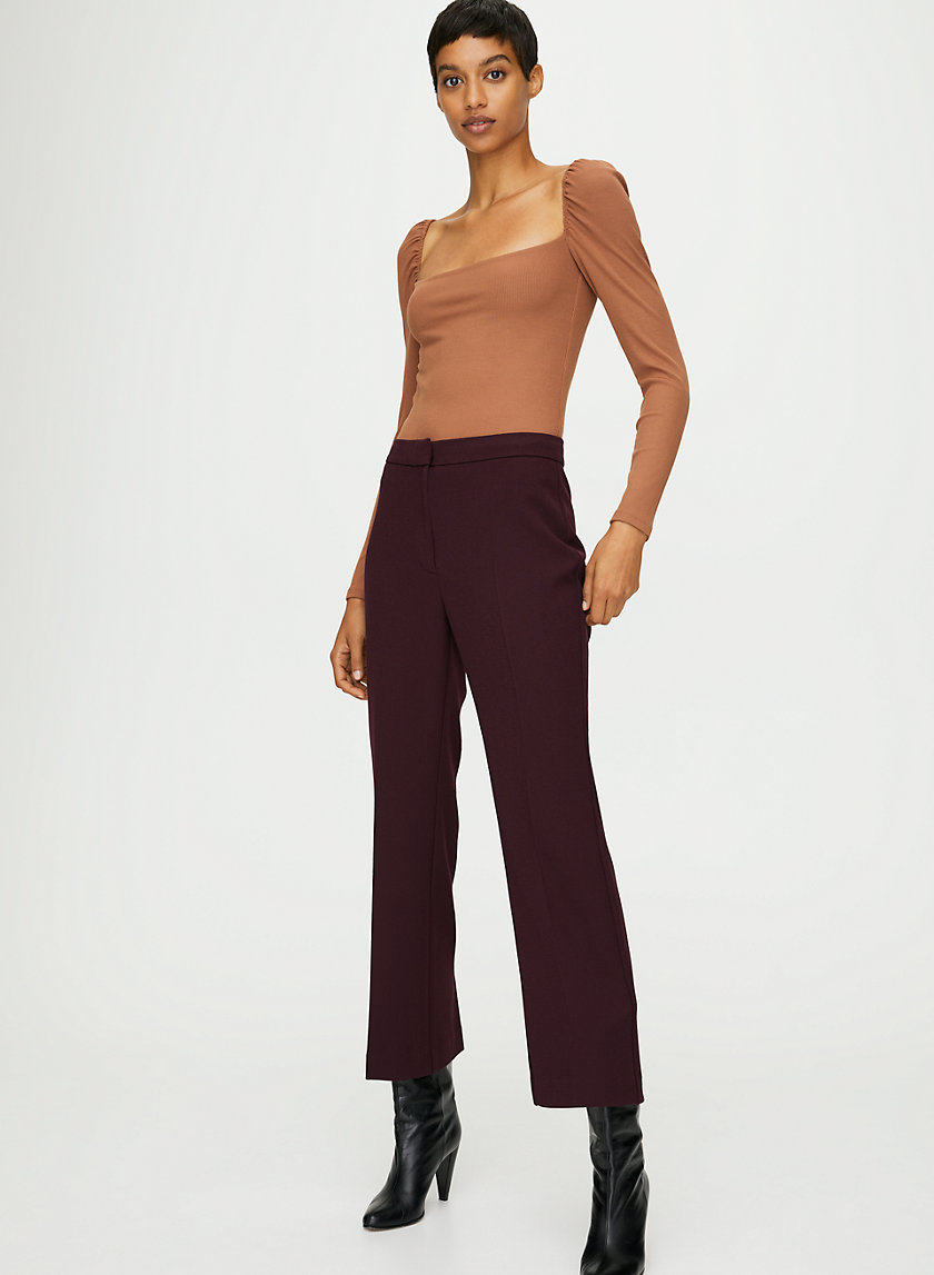 JEANNETTE BODYSUIT - Thong, puff-sleeve bodysuit