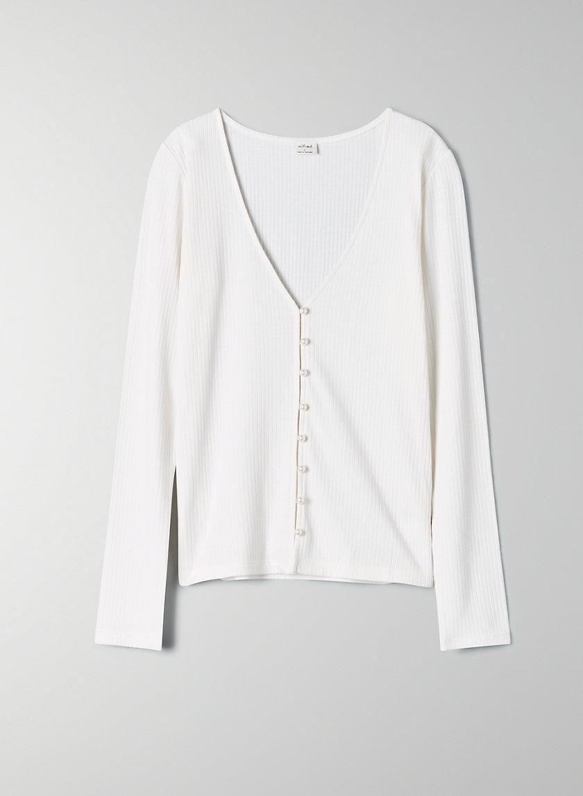 PEARL LONGSLEEVE - Long-sleeve pearl cardigan