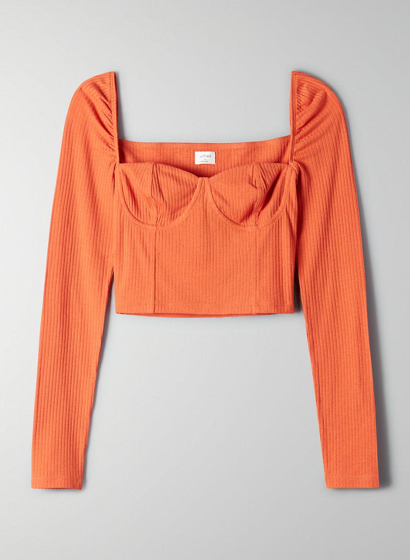 MONIQUE LONGSLEEVE - Long-sleeve corset top