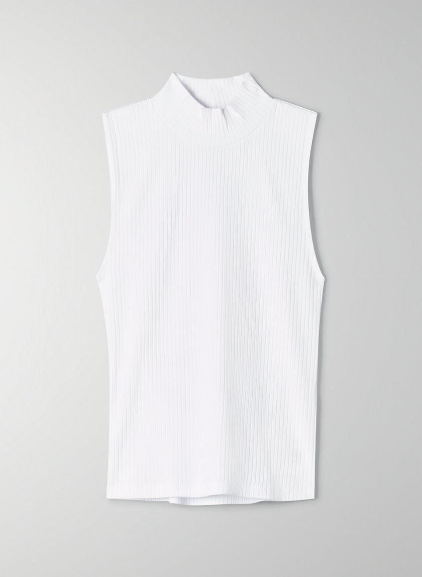 KERRYN MOCKNECK - Sleeveless mock-neck t-shirt