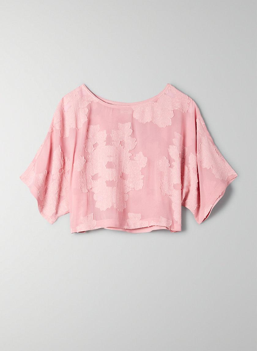 BLAYZE T-SHIRT - Cropped, floral blouse