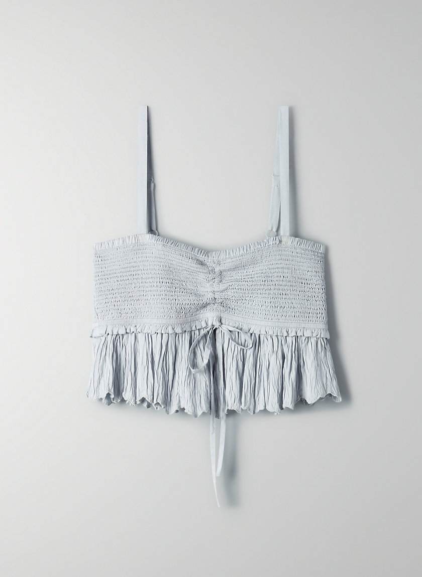 DAREAU CAMISOLE - Cropped smocked tank top