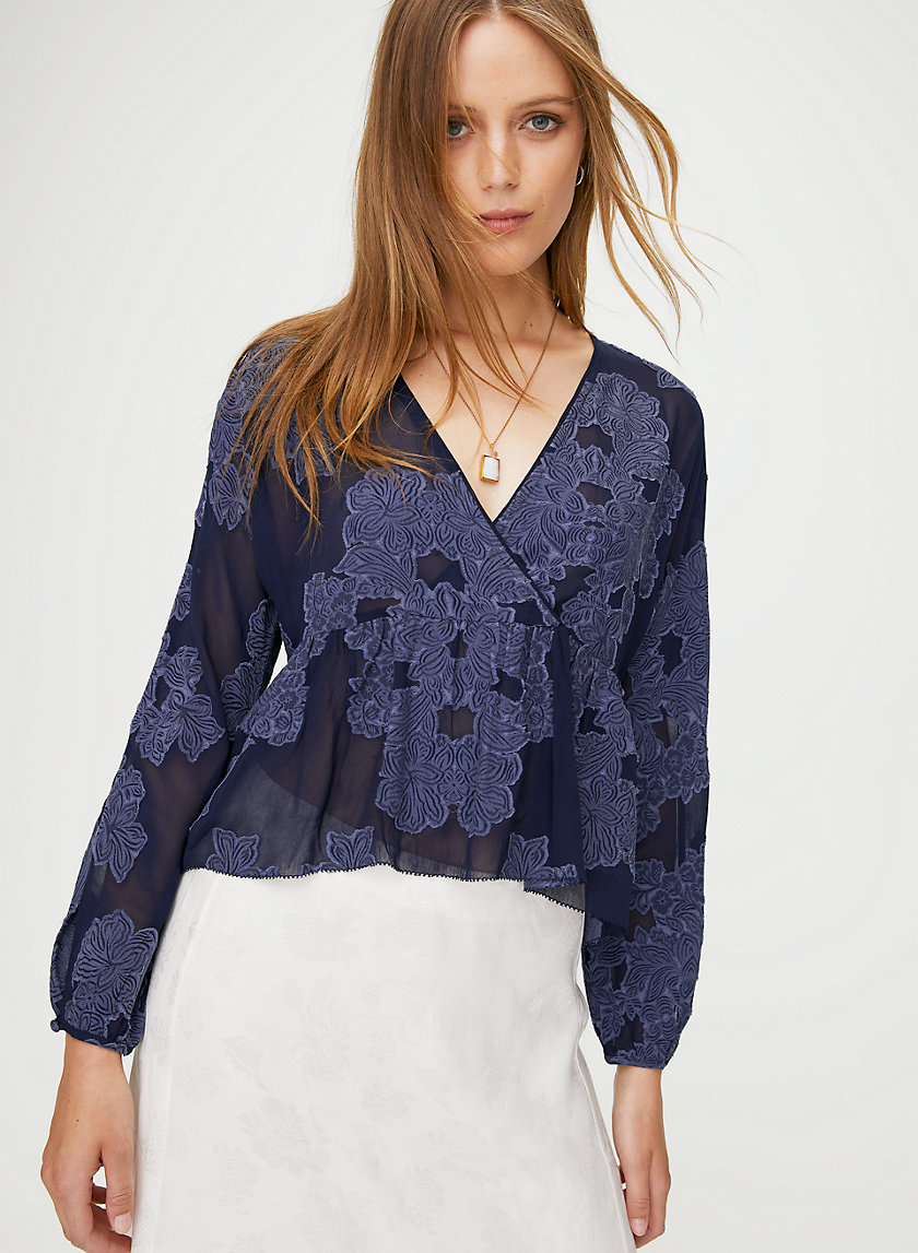 PEPLUM BLOUSE - Cropped, floral blouse