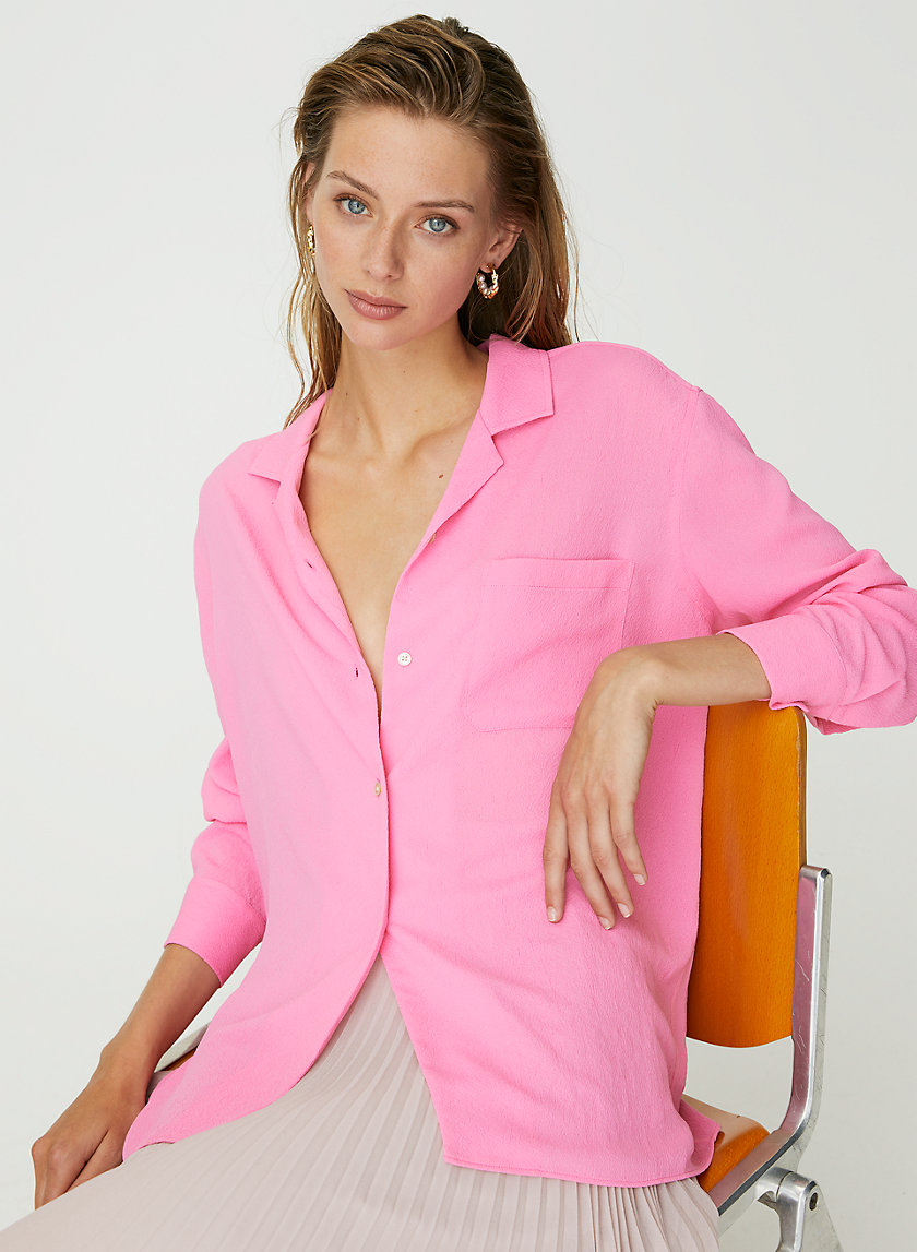 RELAXED BUTTON-UP - Boxy, pyjama blouse