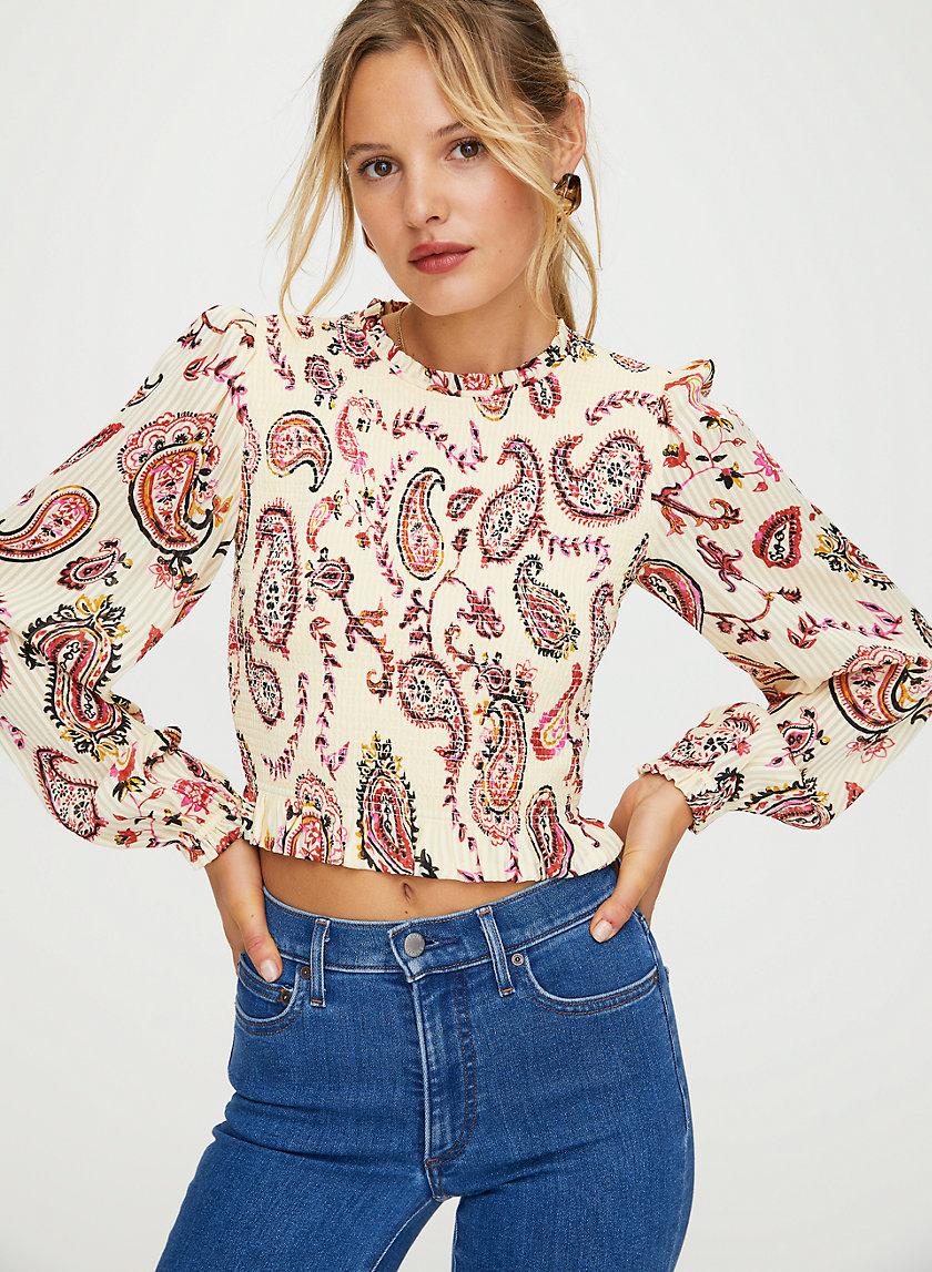 LILITH BLOUSE - Printed prairie blouse