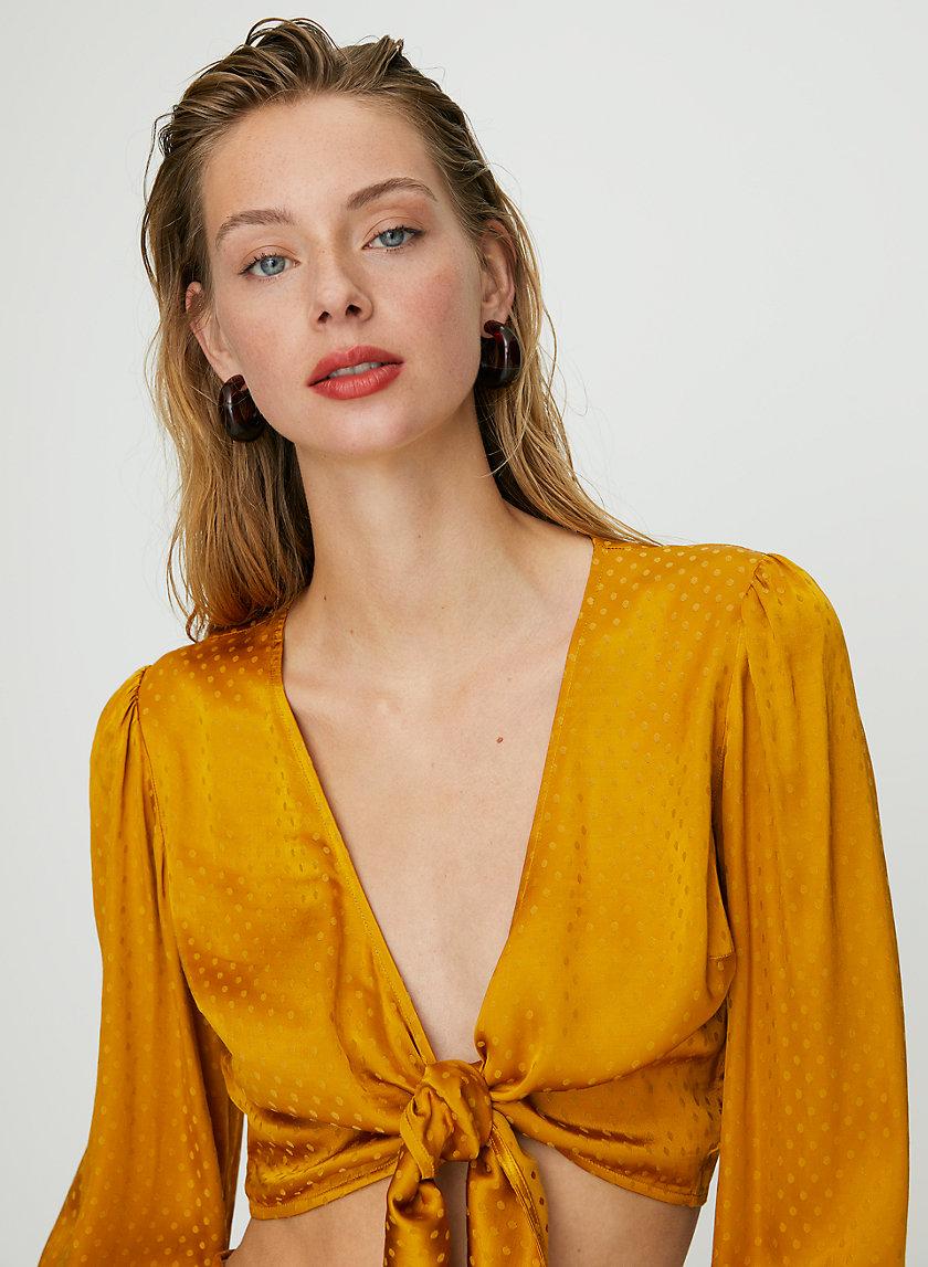 VIVI BLOUSE - '70s tie-front blouse