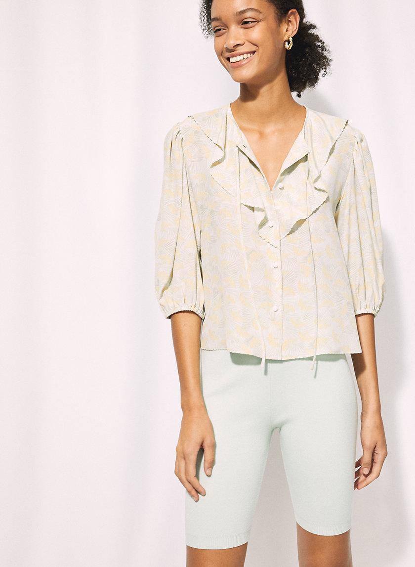 FRIDA BLOUSE - Ruffled silk blouse