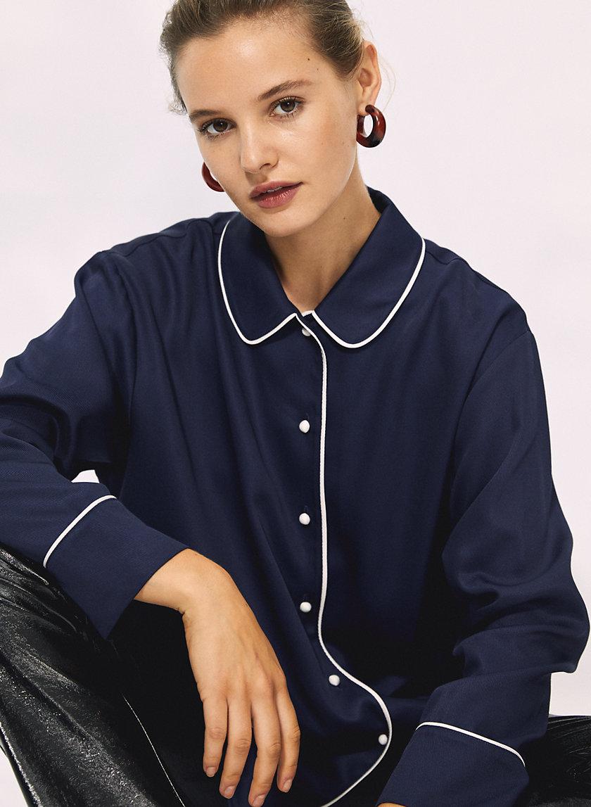 CHAR BLOUSE - Peter Pan collar blouse