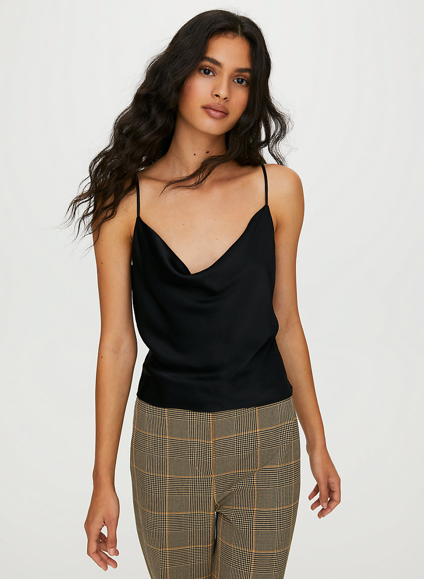 MUSE CAMISOLE - Satin cropped camisole