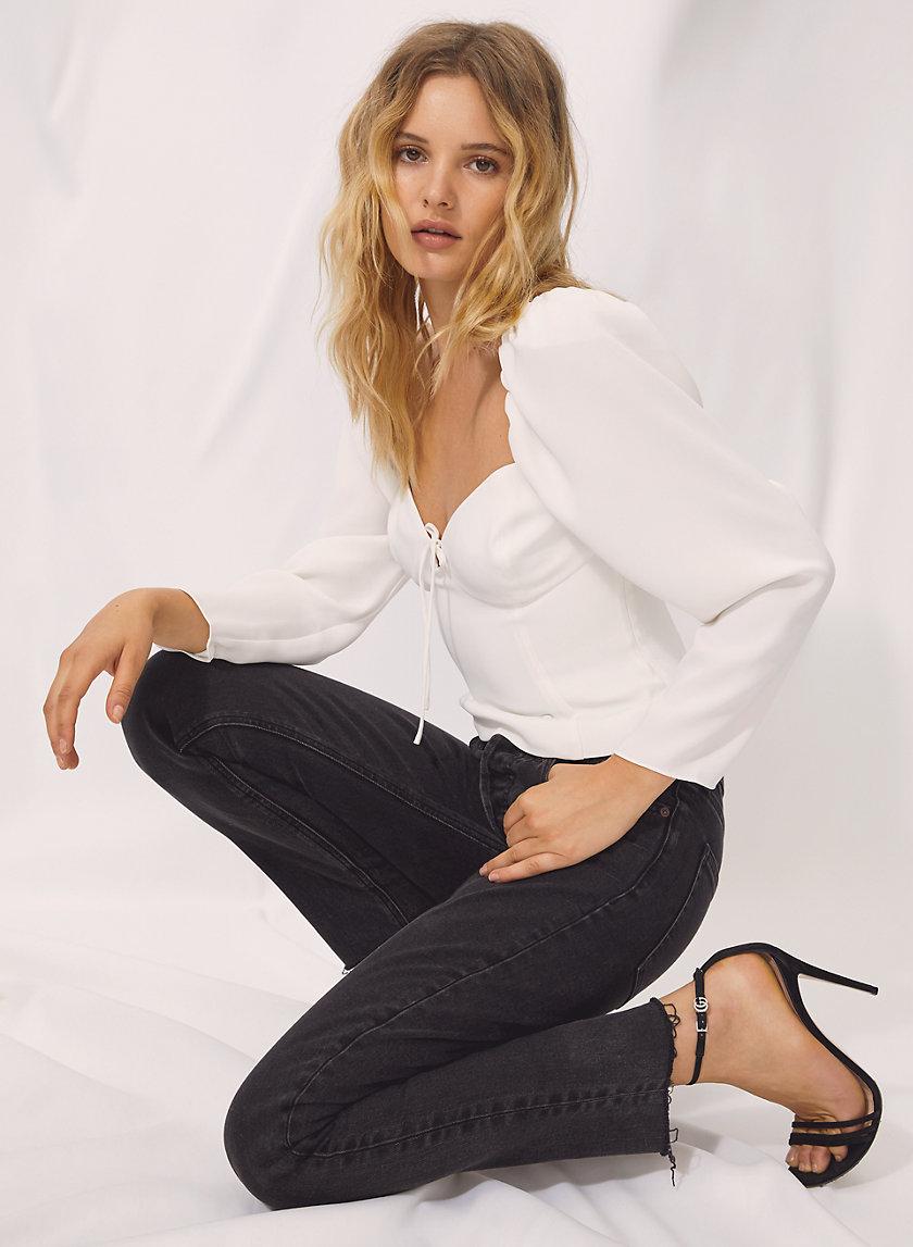 NOVELLA BLOUSE - Puff-sleeve, smocked prairie blouse