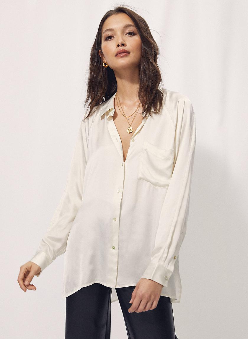 BOYFRIEND BUTTON-UP SHIRT - Relaxed button-up shirt