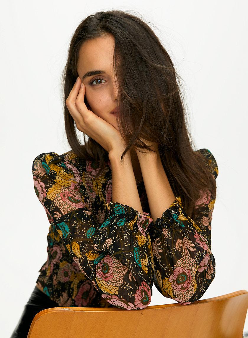 LILITH BLOUSE - Artist print prairie blouse