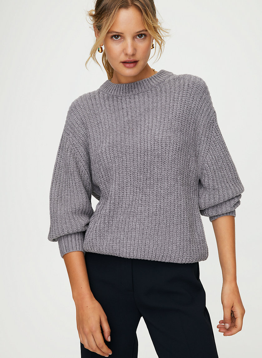 ESSENTIAL CHENILLE SWEATER - Relaxed-fit crewneck sweater