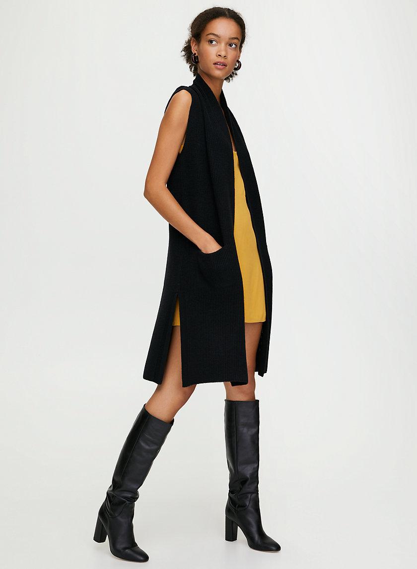 OLIVIE CARDIGAN - Merino-wool cardigan vest