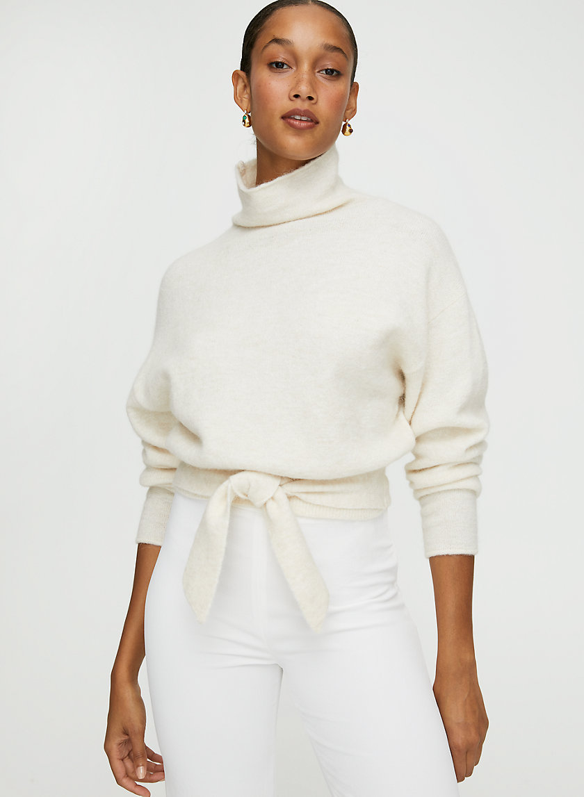 LORIN SWEATER - Cropped turtleneck sweater