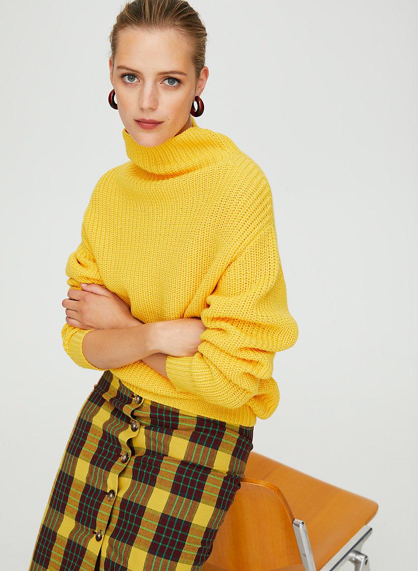 MONTPELLIER SWEATER - Merino-wool mock-neck sweater