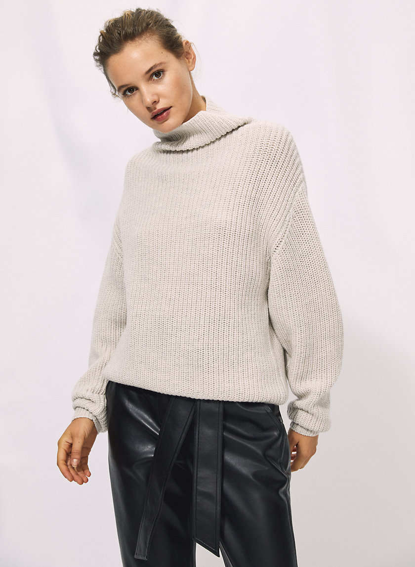 MONTPELLIER SWEATER - Merino-wool mock-neck sweater
