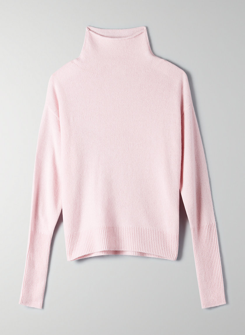 CYPRIE CASHMERE SWEATER - Cashmere mock-neck sweater