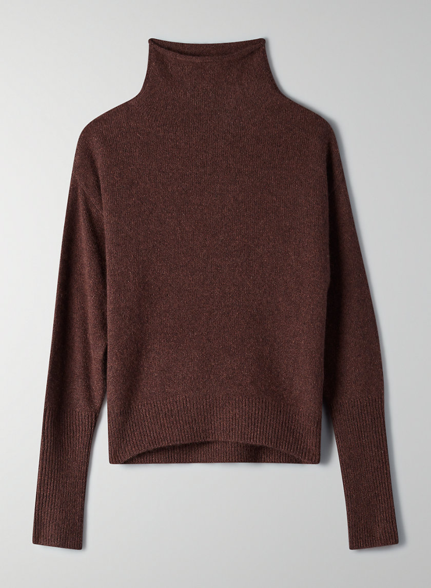 CYPRIE SWEATER - Cashmere mock-neck sweater