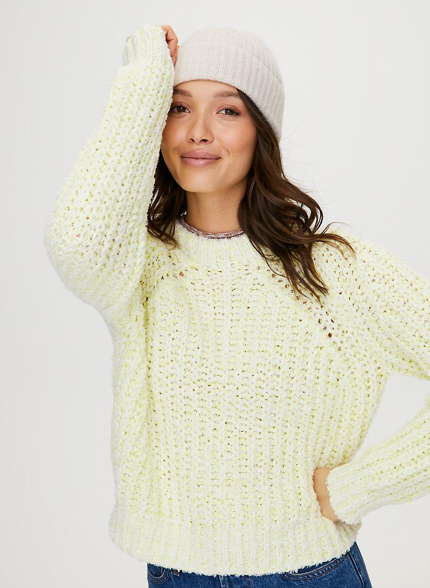 CONFETTI SWEATER - Cropped mock-neck sweater