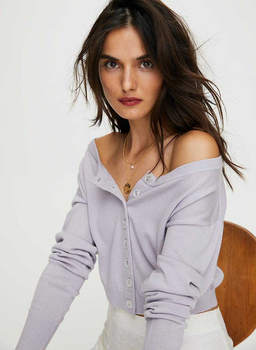TAYLEE CARDIGAN - Shrunken wool cardigan