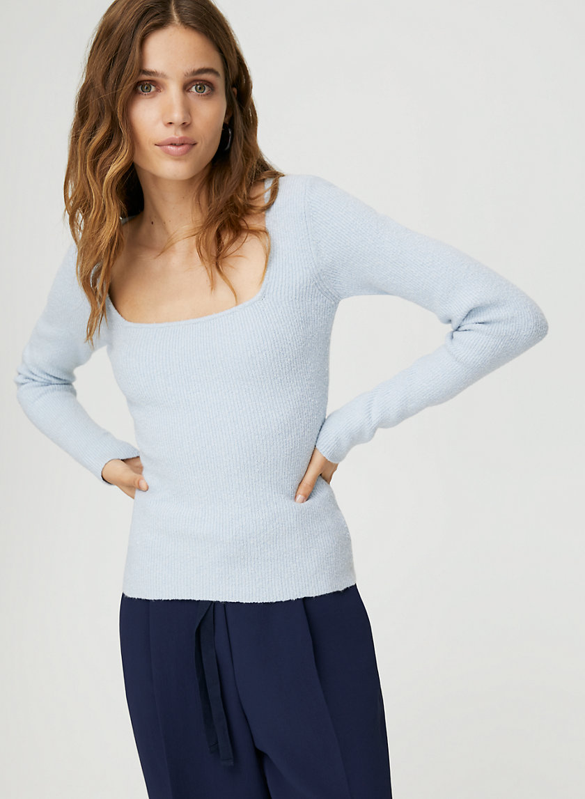 KIRSTY SWEATER - Square-neck fitted sweater