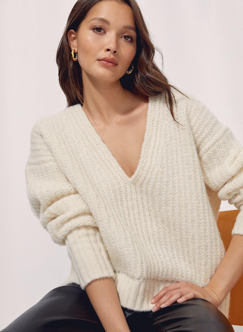 ERICA SWEATER - Alpaca V-neck sweater