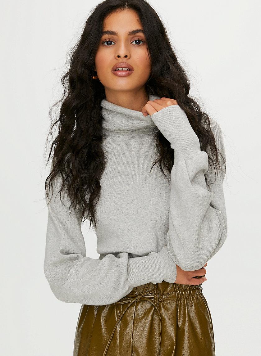 REBECCA SWEATER - Cropped turtleneck sweater