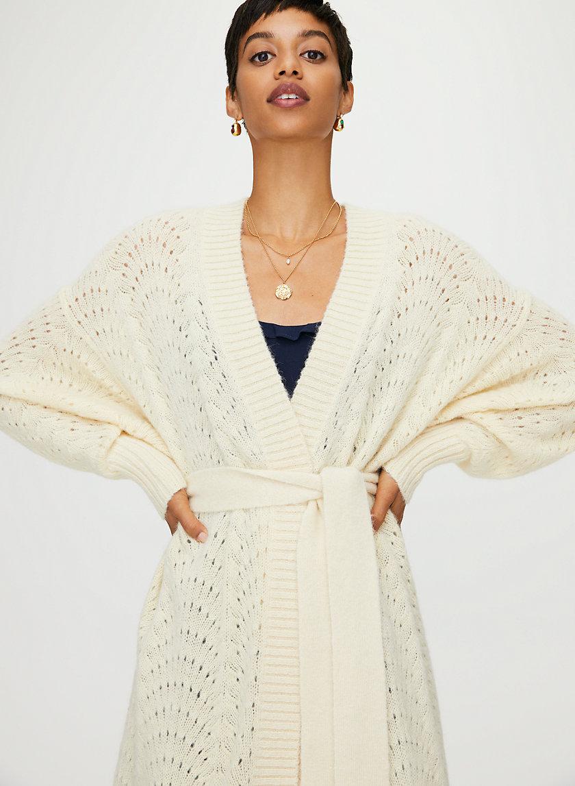 BRIANNA CARDIGAN - Belted knit cardigan