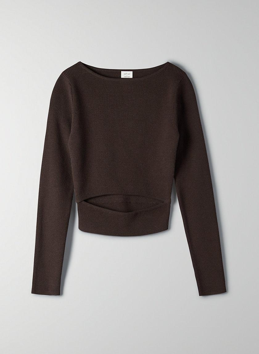 YACINE LONGSLEEVE - Long-sleeve peek-a-boo knit top