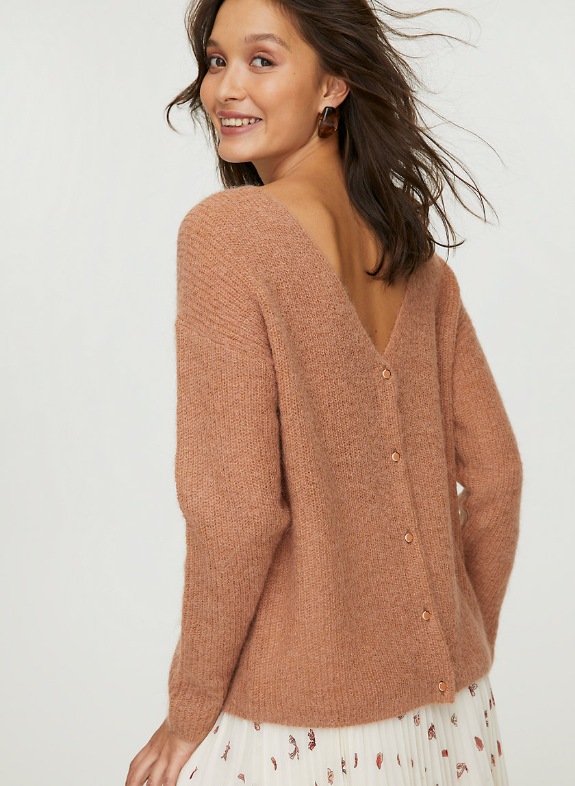FRONT TO BACK CARDIGAN - Reversible, button-up cardigan