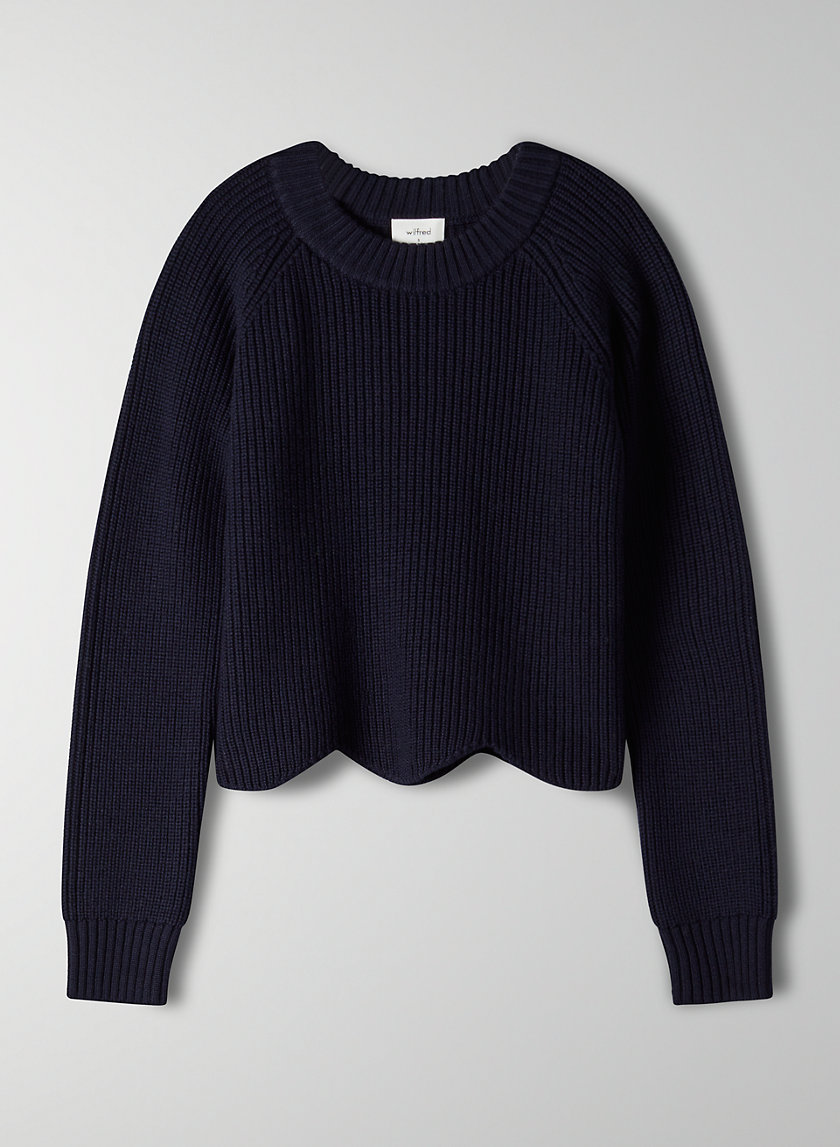 SARDOU SWEATER - Cropped scallop-hem sweater