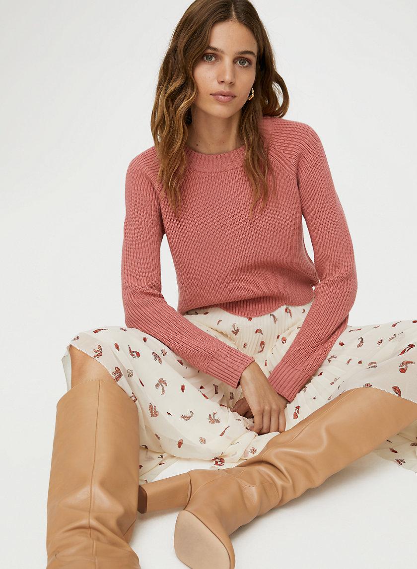SARDOU SWEATER - Cropped scallop-hem sweater