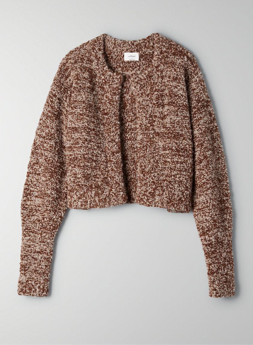 MELODY ALPACA CARDIGAN - Cropped alpaca-blend cardigan