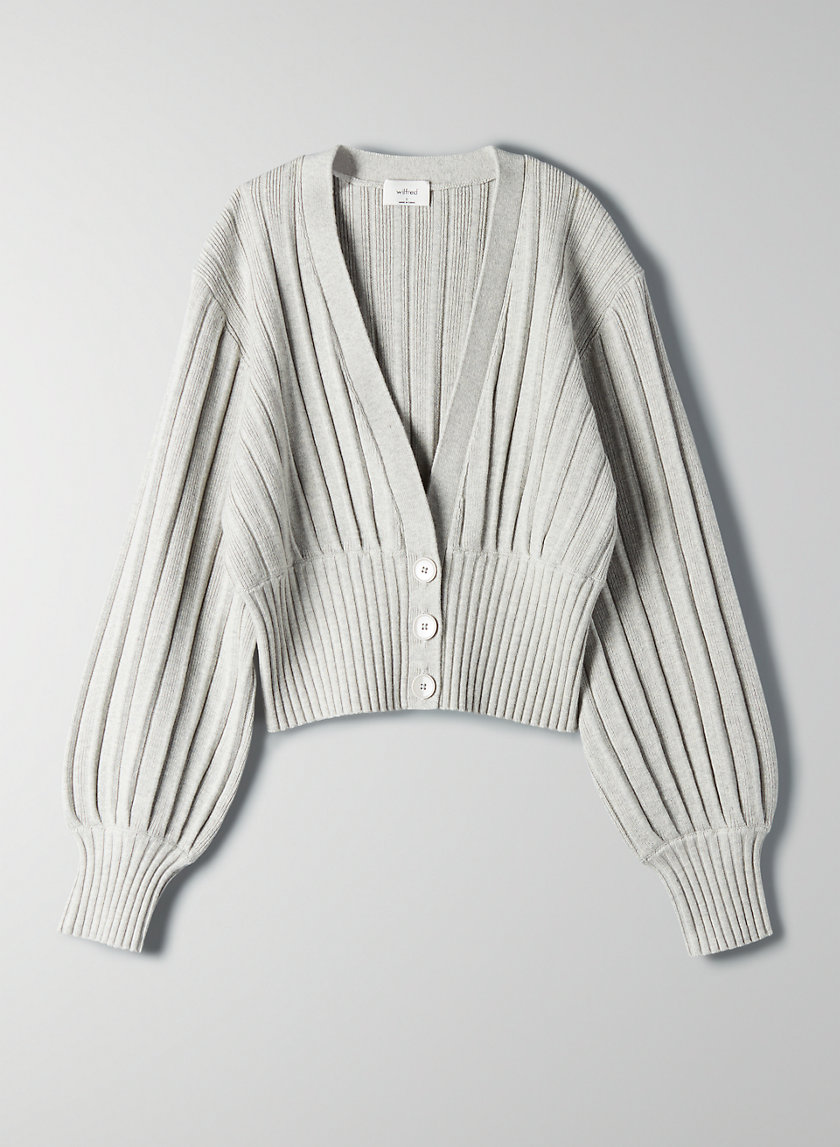 NEW PLUNGE FRONT CARDIGAN - Cropped deep v-neck cardigan