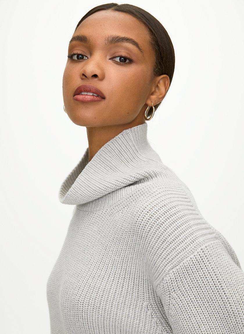 JARA WOOL SWEATER - Wool turtleneck sweater