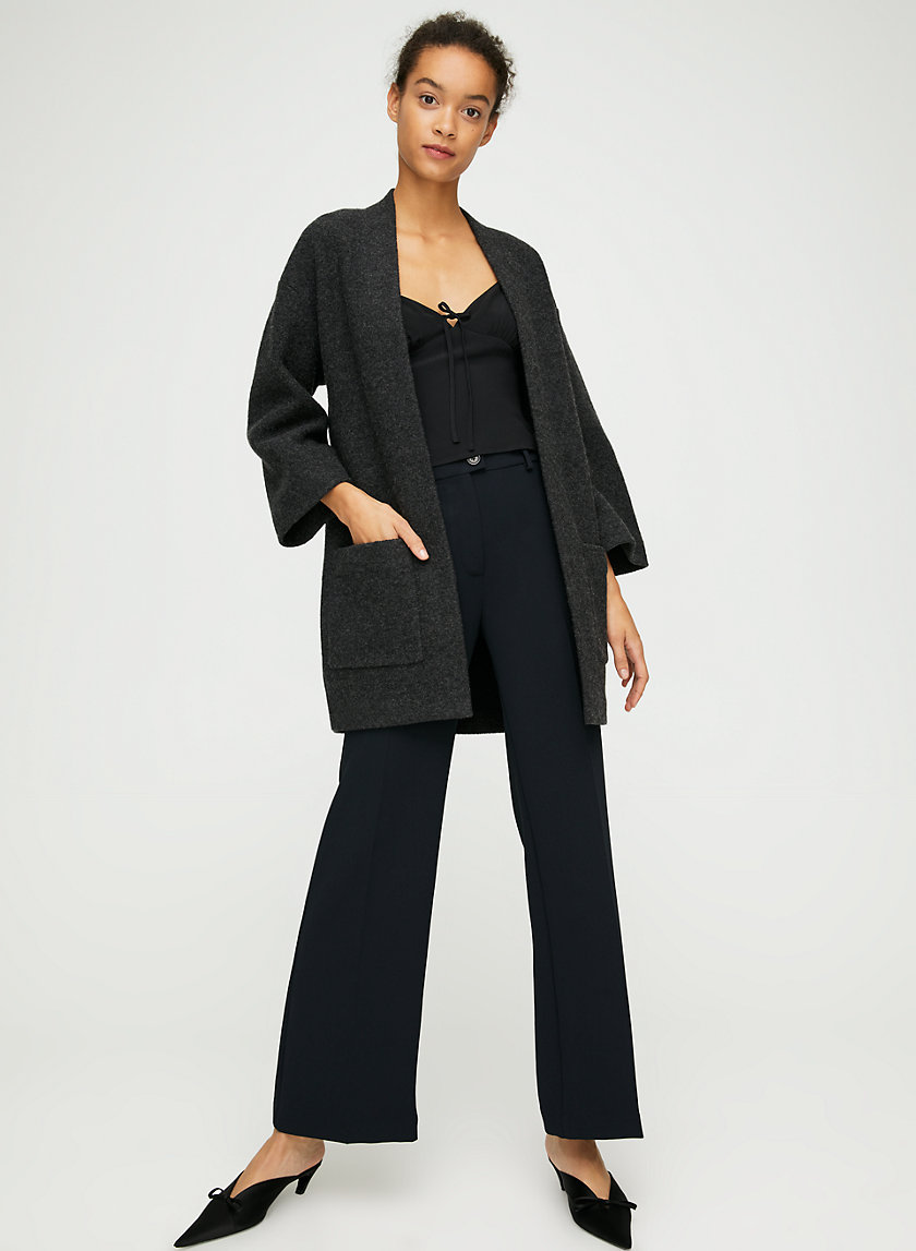 BRULLON SWEATER - Structured, open-front cardigan