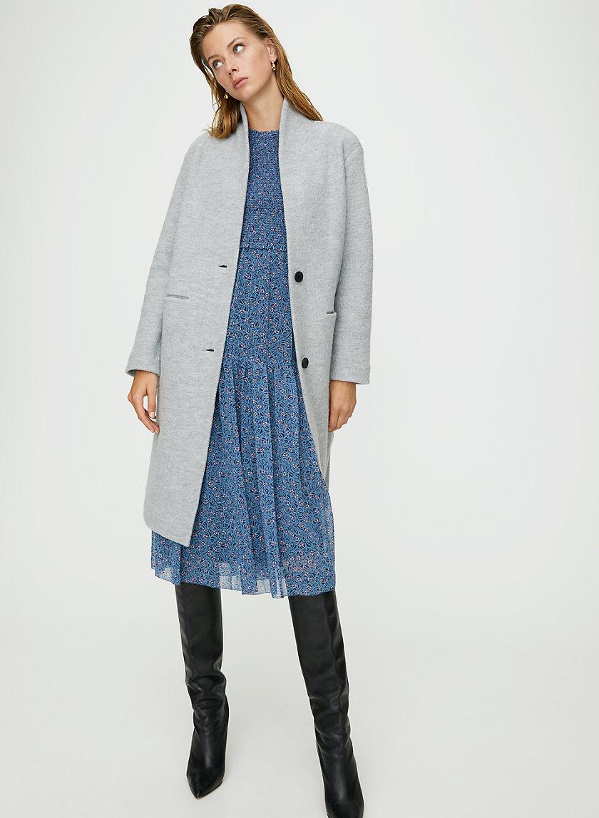 DUJARDIN JACKET - Long, merino-wool cardigan jacket