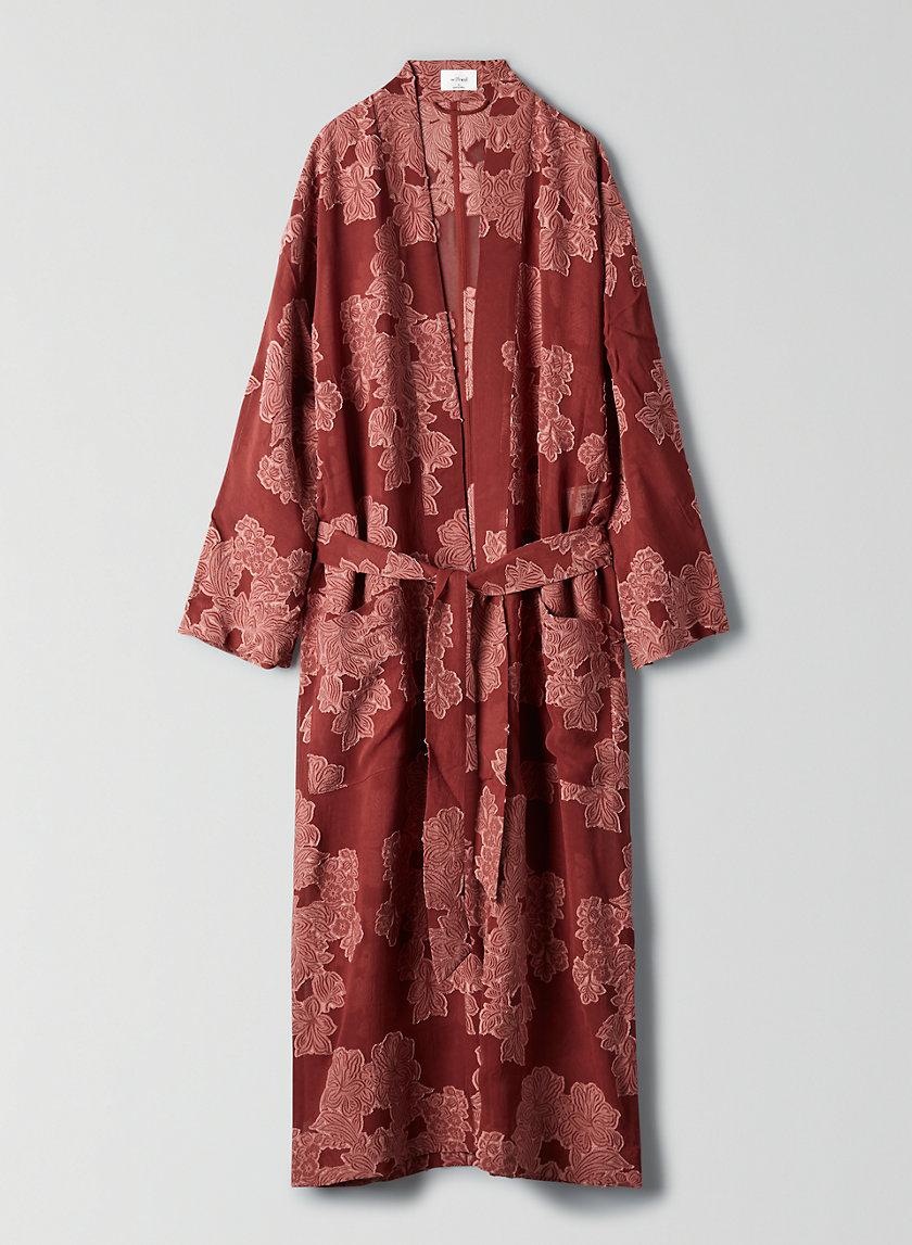 DURANTE JACKET - Long jacquard kimono