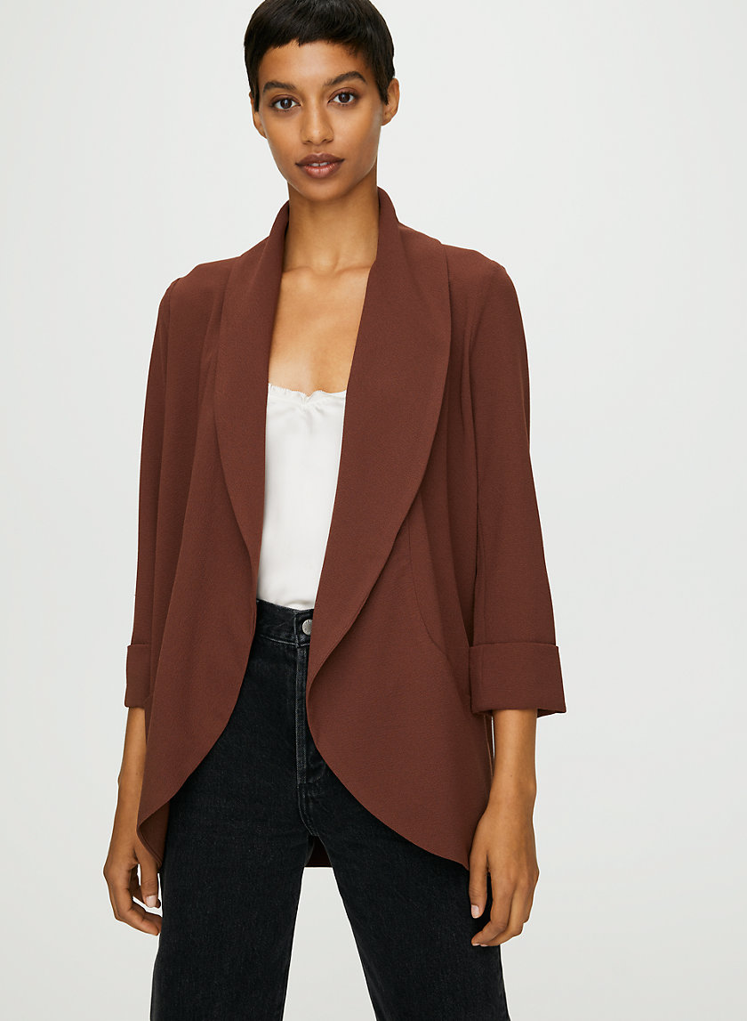 CHEVALIER JACKET - Lightweight, open-front blazer