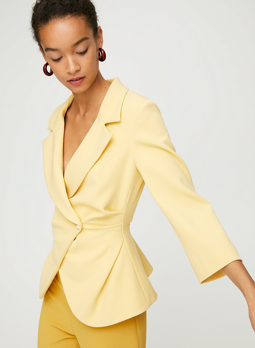 SELINA BLAZER - Single-button peplum blazer