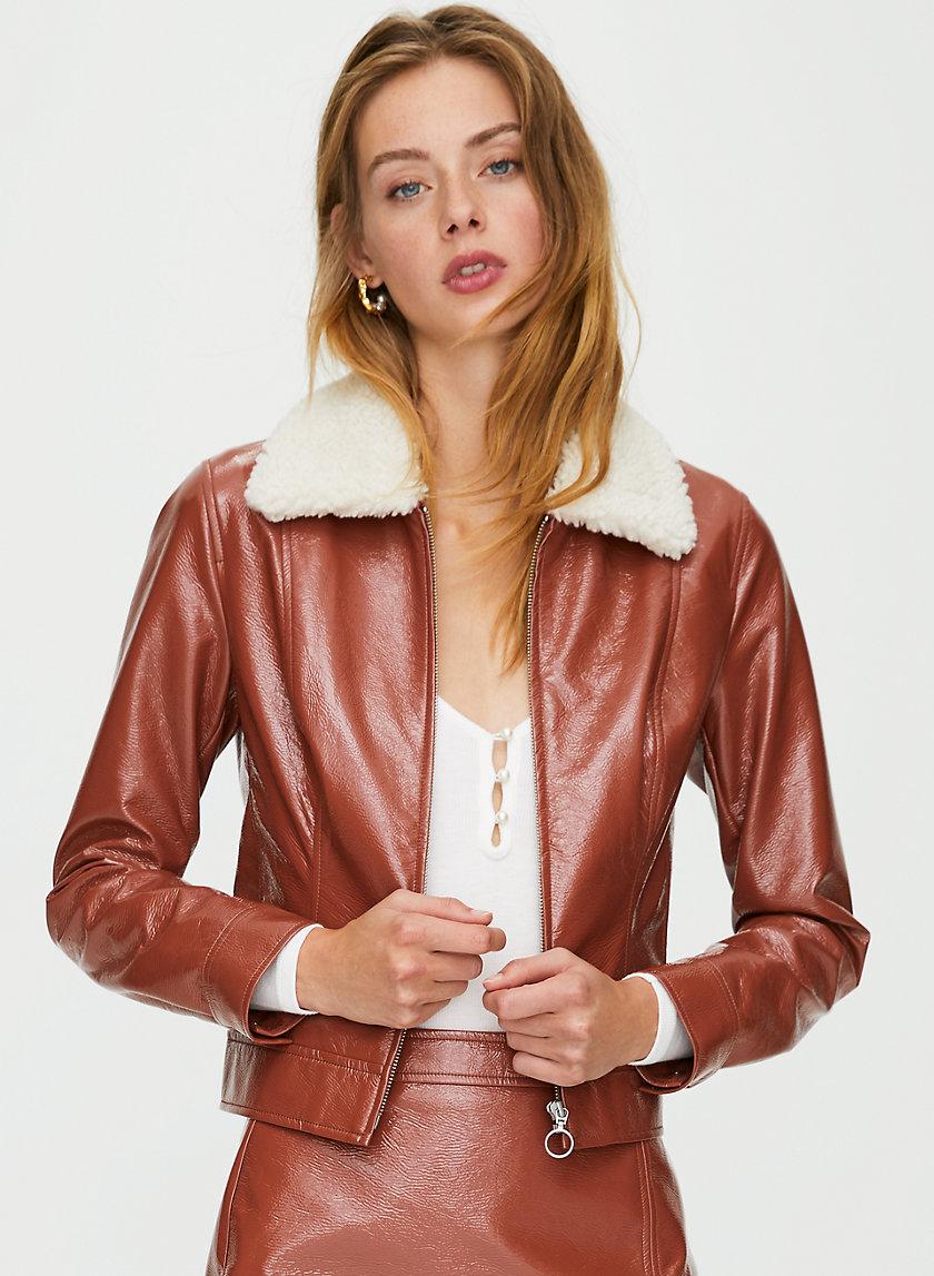 TEMPEST JACKET - Cropped vinyl jacket