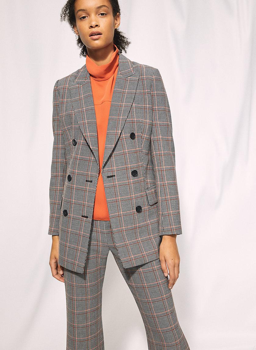 MARGAUX BLAZER - Menswear-inspired check blazer