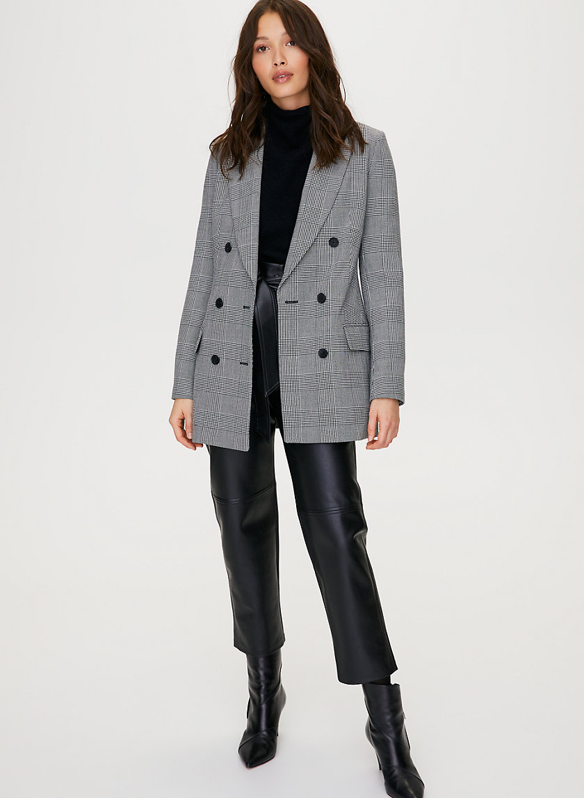 MARGAUX BLAZER - Menswear-inspired check blazer