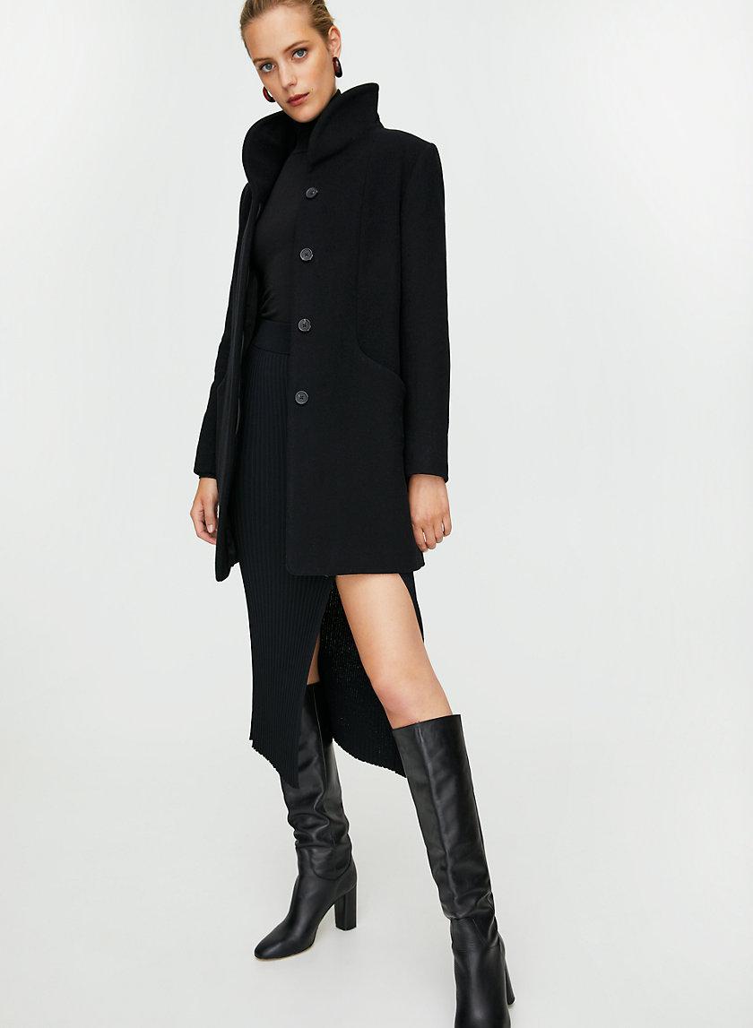 COCOON WOOL COAT - Virgin-wool and cashmere coat